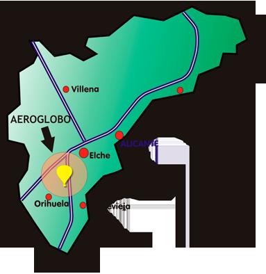 Mapa de la zona de vuelo